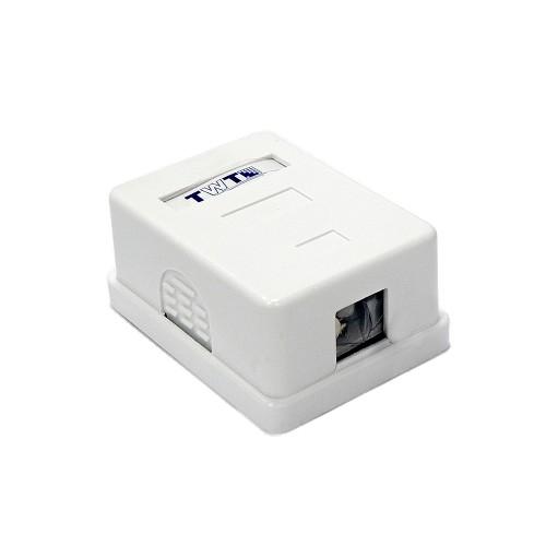 Настенная коробка на 1 порт для Keystone TWT-SA1-WH