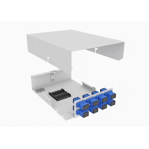 Кросс оптический, настенный, 8 SC/UPC адаптеров, одномодовый, TopLAN, укомплектованный