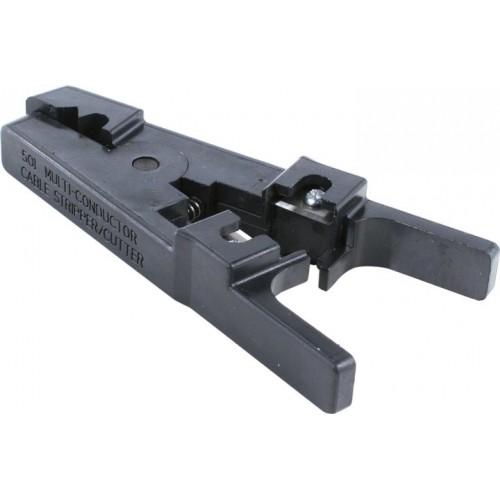 Инструмент для зачистки и обрезки UTP/STP кабеля, с регулировочным винтом.