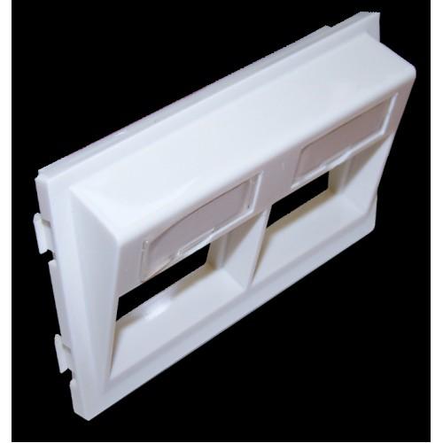 Адаптерная рамка двойная угловая, для напольных башенок, белая LAN-WA-P2H/A-WH