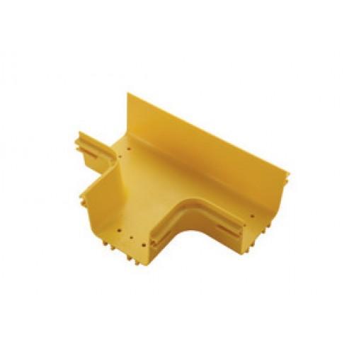 Т-соединитель оптического лотка 120 мм, желтый