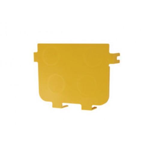 Торцевая заглушка оптического лотка 120 мм, желтая