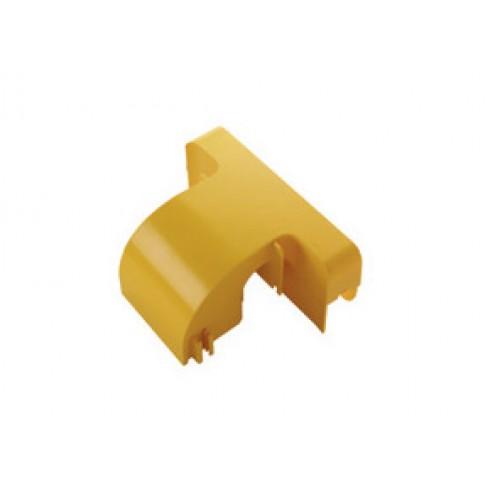 Спуск кабельный под лоток 120 мм с крышкой, желтый