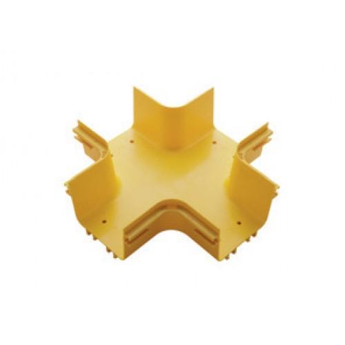 Х-соединитель оптического лотка 120 мм, желтый