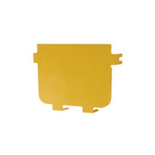 Торцевая заглушка оптического лотка 240 мм, желтая