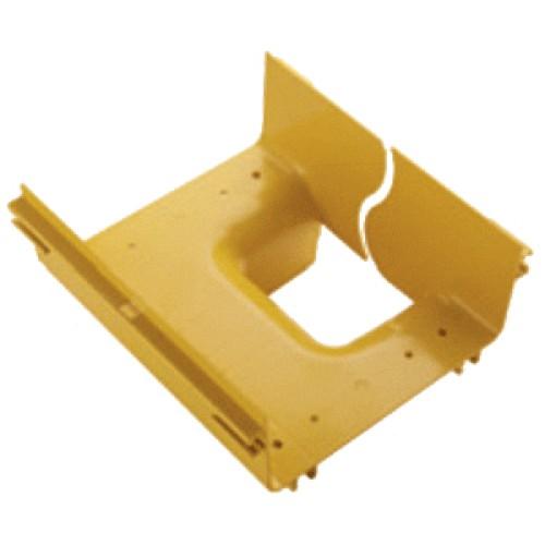 Вертикальный отвод с лотка 240 мм на лоток 120 мм, желтый