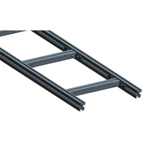 Лестничный лоток, прямая секция шириной 200 мм, алюминий, 3 метра