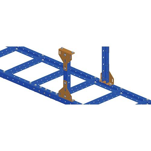 Скоба фиксирующая для стального лестничного лотка, серая