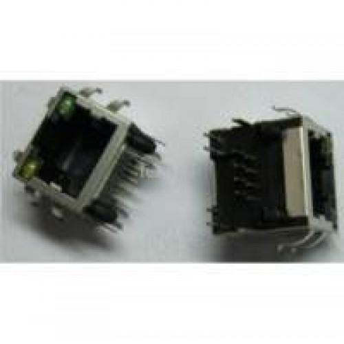 Блок розеток 8 шт., входная розетка, выключатель, без корпуса LAN-EL-8P/1S