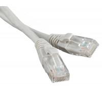 Патч-корд RJ45 - RJ45, 4 пары, UTP, категория 5е, 2 м, серый, LSZH, LANMASTER LAN-PC45/U5E-2.0-GY