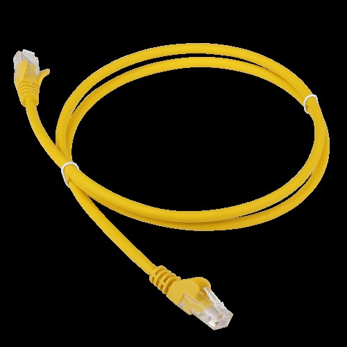 Патч-корд RJ45 - RJ45, 4 пары, UTP, категория 6, 5 м, желтый, LSZH, LANMASTER LAN-PC45/U6-5.0-YL