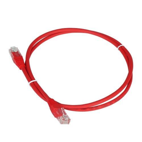Патч-корд RJ45 - RJ45, 4 пары, UTP, категория 5е, 0.5 м, красный, TWT TWT-45-45-0.5-RD