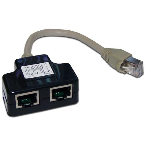Y-адаптер, 2 компьютерных порта, экранированный, кат. 5е TWT-Y-E2-E2-S