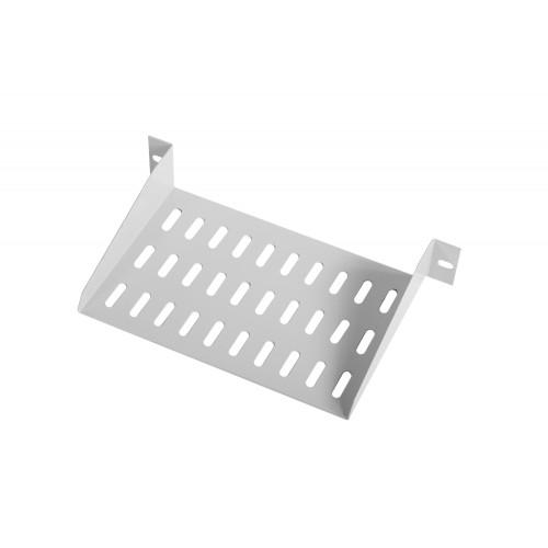 Полка ЦМО МС, консольная, 1U, 255х150х44 (ШхГхВ), для настенных шкафов, цвет: серый МС-15-10