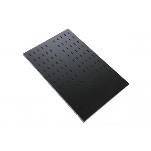 Полка ЦМО СВ-У, стационарная, 1U, 496х1000х25 (ШхГхВ), для шкафов и стоек, цвет: чёрный СВ-100У-9005