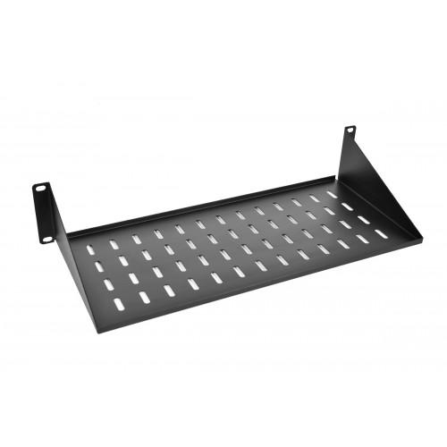 Полка ЦМО МС, консольная, 2U, 483х400х89 (ШхГхВ), для шкафов и стоек, цвет: чёрный МС-40-9005