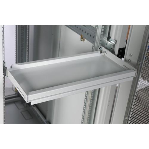 Полка клавиатурная ЦМО ТСВ, стационарная, 1U, 440х455х25 (ШхГхВ), для шкафов и стоек, цвет: серый ТСВ-КС