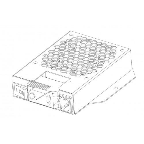 Модуль вентиляторный потолочный, 1 вентилятор с датчиком 35С, черный