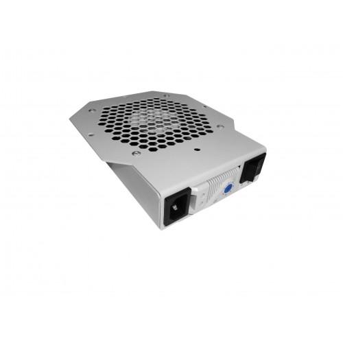 Вентиляторный модуль ЦМО МВ, 250V, 42х425х170 мм (ВхШхГ), вентиляторов: 1, для шкафов, цвет: чёрный МВ-400-1Т-9005