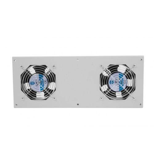 Вентиляторный модуль ЦМО МВ, 250V, 425х170х60 (ШхГхВ), вентиляторов: 2, 43 дБ, для шкафов, цвет: чёрный МВ-400-2Т-9005
