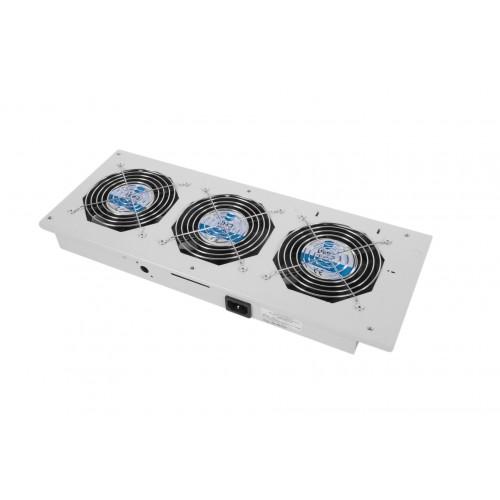 Вентиляторный модуль ЦМО МВ, 250V, 441х170х60 (ШхГхВ), вентиляторов: 3, 43 дБ, для шкафов, цвет: чёрный МВ-400-2-3Т-9005