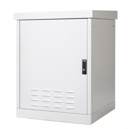 Шкаф уличный напольный, 9U, 800х800, В=845мм, передняя дверь вентилируемая