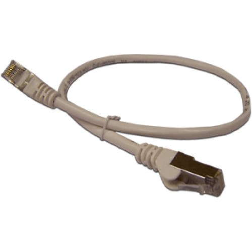 Патч-корд RJ45 - RJ45, 4 пары, FTP, категория 6A, 5 м, серый, LSZH, LANMASTER LAN-PC45/S6A-5.0-GY