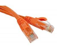 Патч-корд RJ45 - RJ45, 4 пары, UTP, категория 5е, 3 м, оранжевый, LSZH, LANMASTER LAN-PC45/U5E-3.0-OR