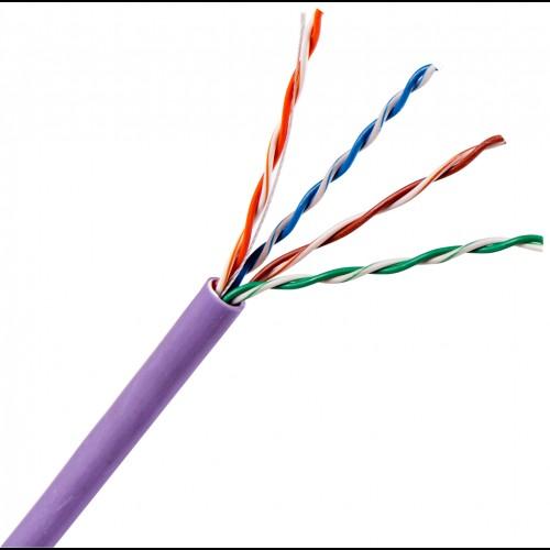 Кабель UTP, 4 пары, Кат. 5e, нг(А)-LS, IEC 60332-3, фиолетовый, 305м в кат., TWT-5EUTP-NGLS