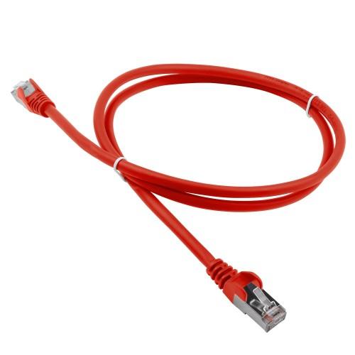 Патч-корд RJ45 - RJ45, 4 пары, S/FTP, категория 6A, 5 м, красный, LSZH, LANMASTER LAN-PC45/S6A-5.0-RD