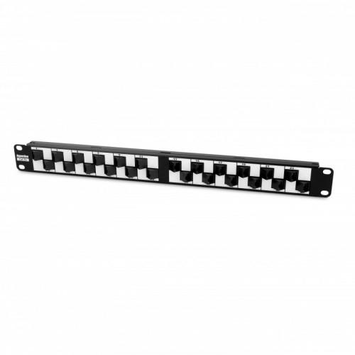 Патч-панель Hyperline PP2A-19-24S-8P8C-C5E-110 1U с угловыми портами 24 портов категория 5e