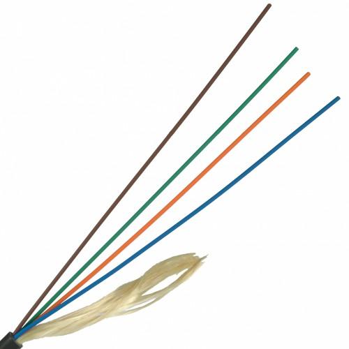 ВО кабель внутренний, Distribution, LSZH, 12 волокон,  MM, OM4, розовый