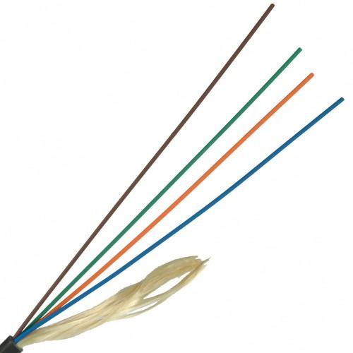 ВО кабель Lanmaster одномодовый G.657 2 волокна внешний PE черный