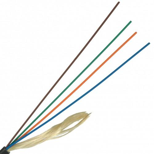 ВО кабель Lanmaster одномодовый G.657 4 волокна внешний PE черный