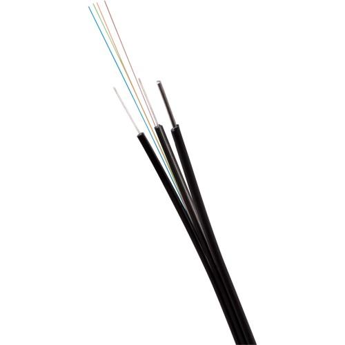 ВО кабель Lanmaster одномодовый универсальный 2 волокна FTTH Drop с тросом FRP нг(А)-HF OS2 Ultra черный