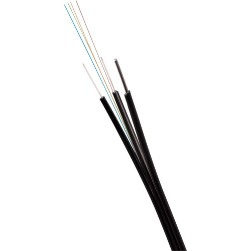 ВО кабель Lanmaster одномодовый универсальный 4 волокна FTTH Drop с тросом FRP нг(А)-HF OS2 Ultra черный