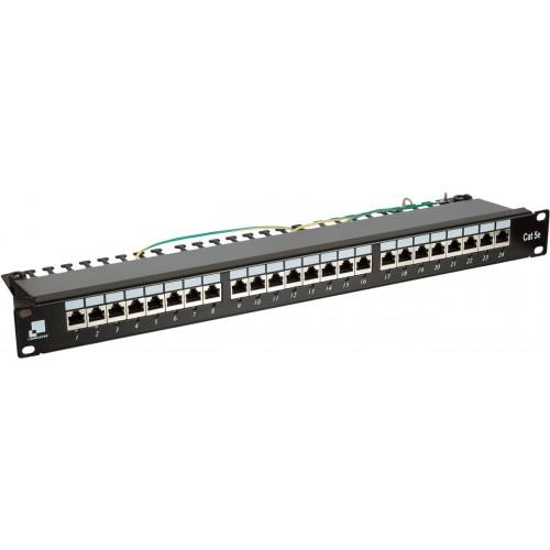 Патч-панель Lanmaster 24 порта с индикаторами, STP, кат.5E, 1U LAN-PPi24S5E