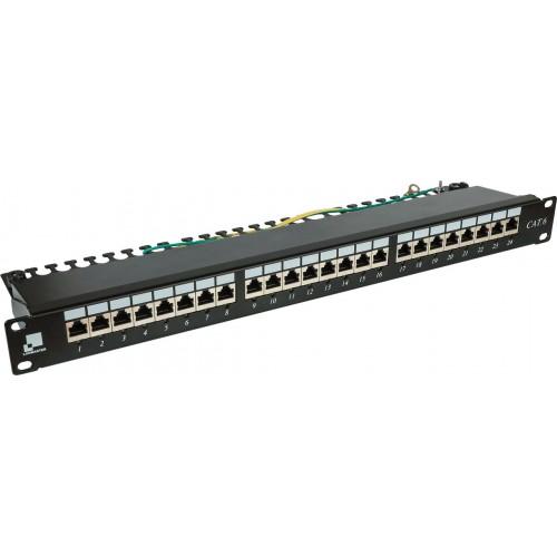 Патч-панель Lanmaster 24 порта с индикаторами, STP, кат.6, 1U LAN-PPi24S6