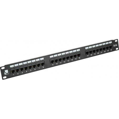 Патч-панель Lanmaster 24 порта с индикаторами, UTP, кат.5E, 1U LAN-PPi24U5E