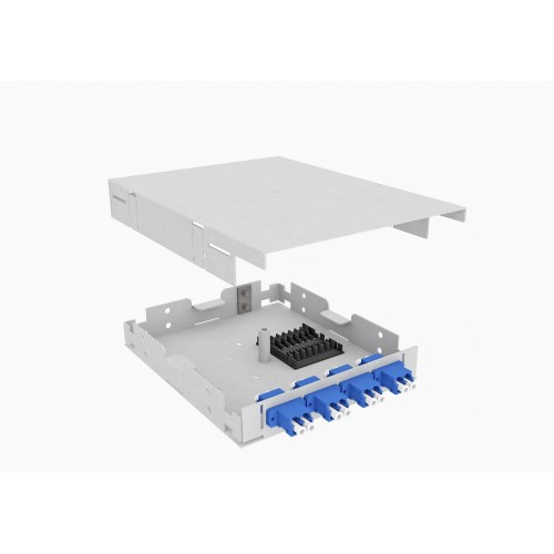 Кросс оптический, настенный, 8 LC/UPC адаптеров, одномодовый, TopLAN, укомплектованный