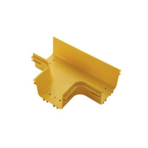 Т-соединитель оптического лотка 360 мм, желтый