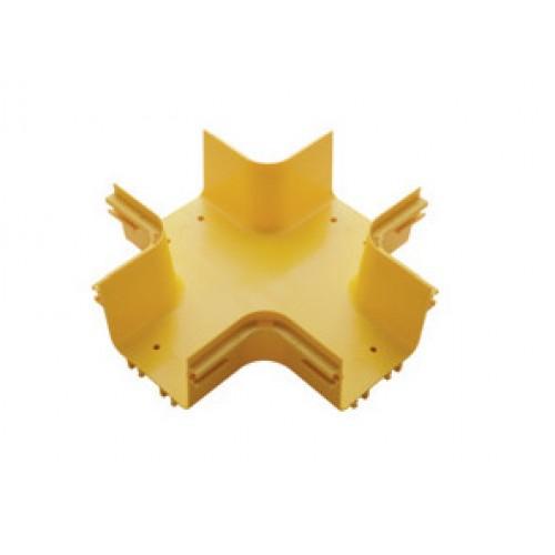 Х-соединитель оптического лотка 360 мм, желтый