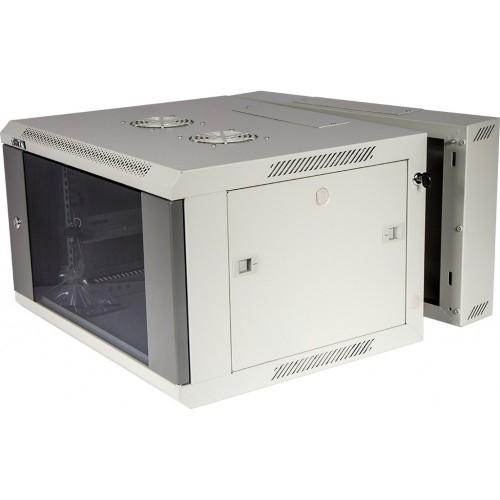 Шкаф настенный серии Pro, 3-секционный, 22U 600x600, стеклянная дверь, 1 ЧАСТЬ