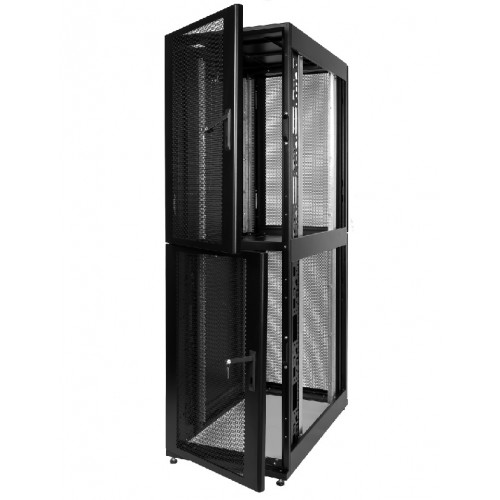 Шкаф серверный Colocation ЦМО ШТК-СП-К IP20 46U 2212х600х1200 перфорированная дверь боковая панель с перфорацией сварной чёрный ШТК-СП-К-2-46.6.12-44