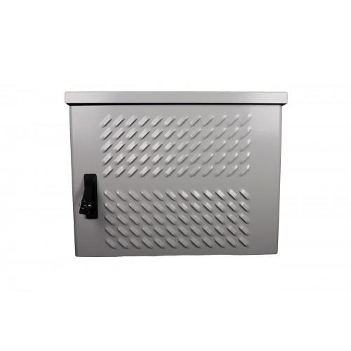 Шкаф уличный всепогодный укомплектованный настенный ЦМО ШТВ-Н, IP65, 12U, 600х600х330 мм (ВхШхГ), цвет: серый ШТВ-Н-12.6.3-4ААА-Т2