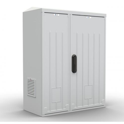Шкаф уличный всепогодный укомплектованный настенный ЦМО ШТВ-НП, IP54, 12U, 620х660х320 мм (ВхШхГ), цвет: серый ШТВ-НП-12.6.3-8ААА-Т1