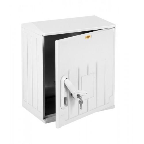 Шкаф электротехнический настенный Elbox EPV IP54 400х400х250 антивандальный сплошная дверь полиэстер серый EPV-400.400.250-1-IP54
