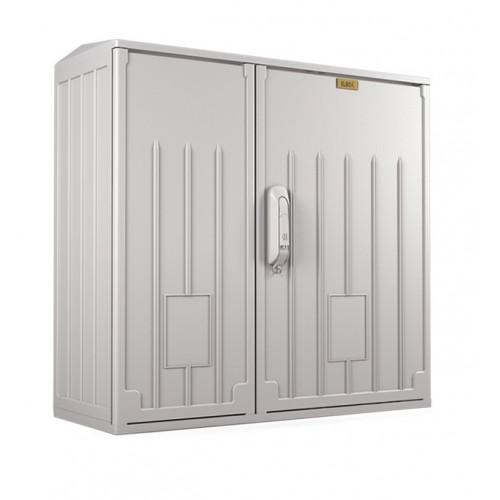 Шкаф электротехнический настенный Elbox EPV IP54 600х600х250 антивандальный двойная распашная дверь полиэстер серый EPV-600.600.250-2-IP54