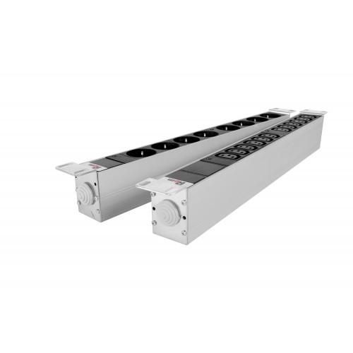 Блок розеток Rem-32 с инд., 12 IEC 60320 C13, 32 А, алюм., 19
