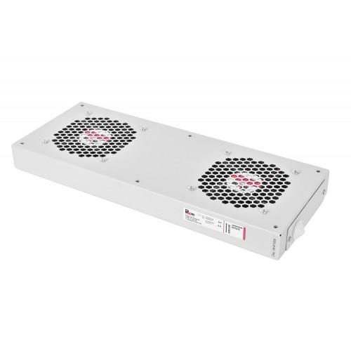 Вентиляторный модуль Rem R-FAN, 48V, 45х432х195 мм (ВхШхГ), вентиляторов: 2, 86 дБ, поток: 300 м3/ч, для шкафов ШРН R-FAN-2J-36V-48V